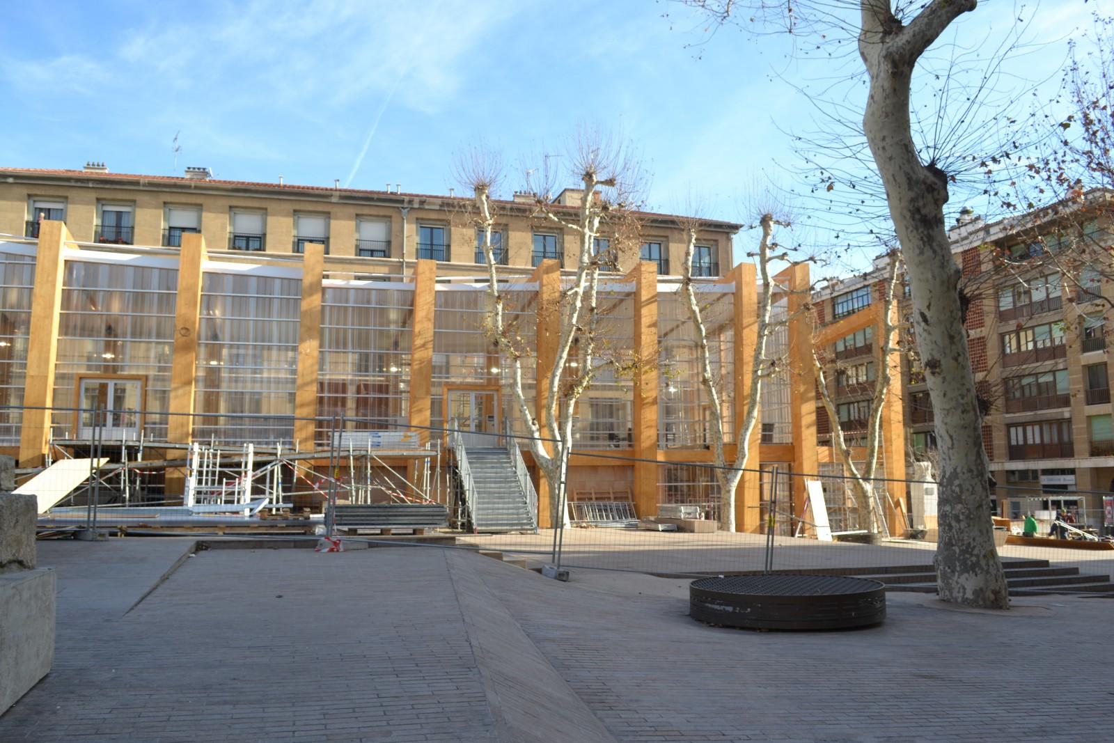 Vue du Pavillon M depuis la place Villeneuve Bargemon. Le 28 décembre 2012  ©MD