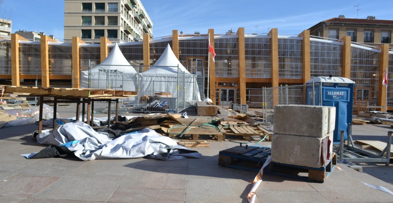 Le Pavillon M est encore en travaux mais il sera inauguré le 12 janvier 2013©MD