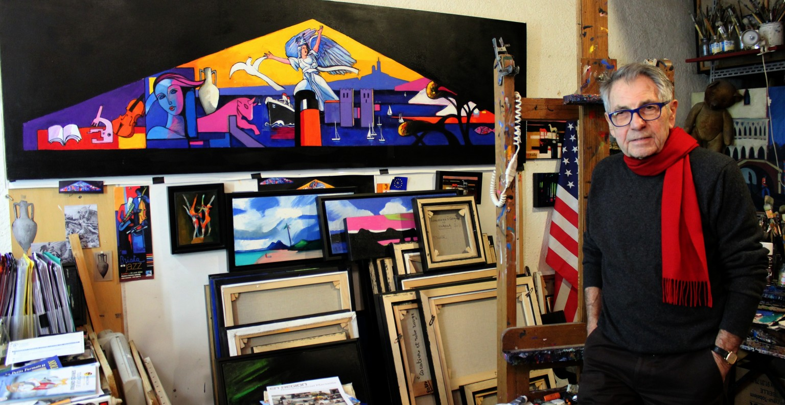 Georges Briata dans son atelier à Marseille. ©AlexandraLopis