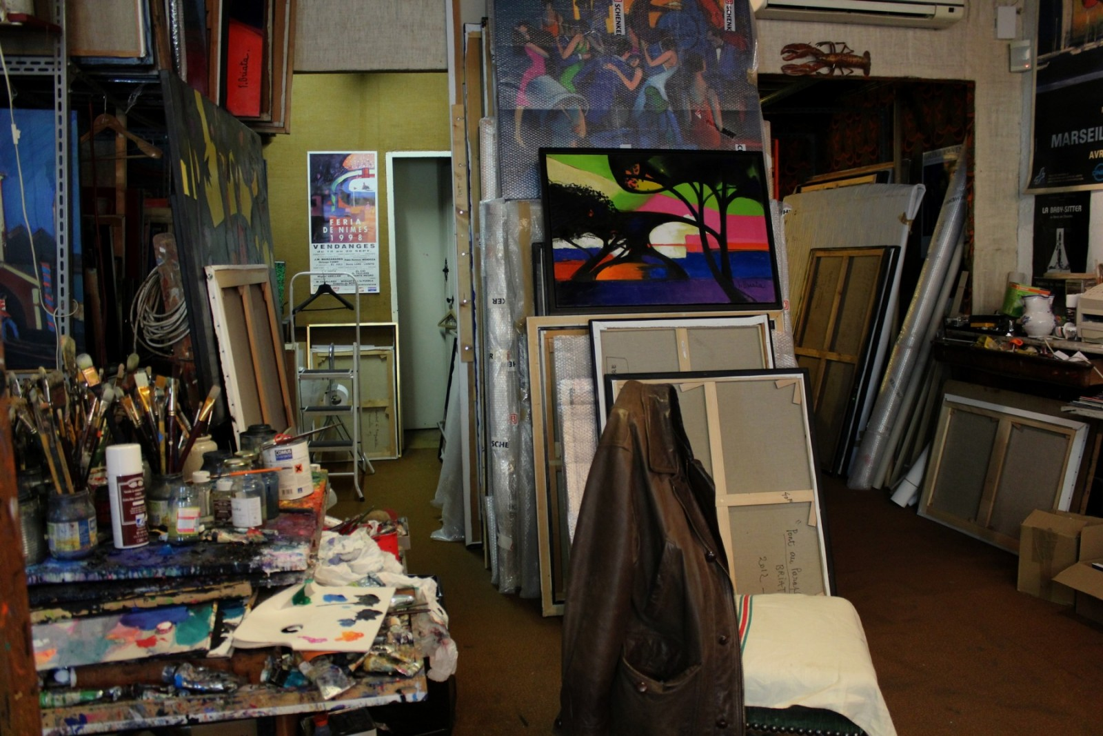 Georges Briata à déjà à son actif plus de 4000 œuvres.  ©AL