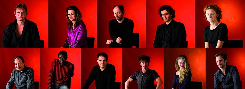 La troupe de la Comédie Française qui jouera dans Rituel pour une Métamorphose.
