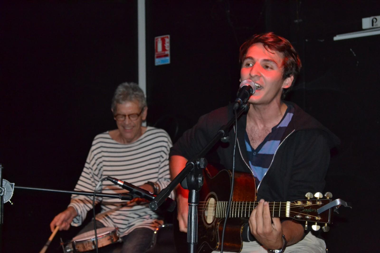 Alain et Martin lors de la scène ouverte du 12 juin à l'Intermédiaire. ©MD