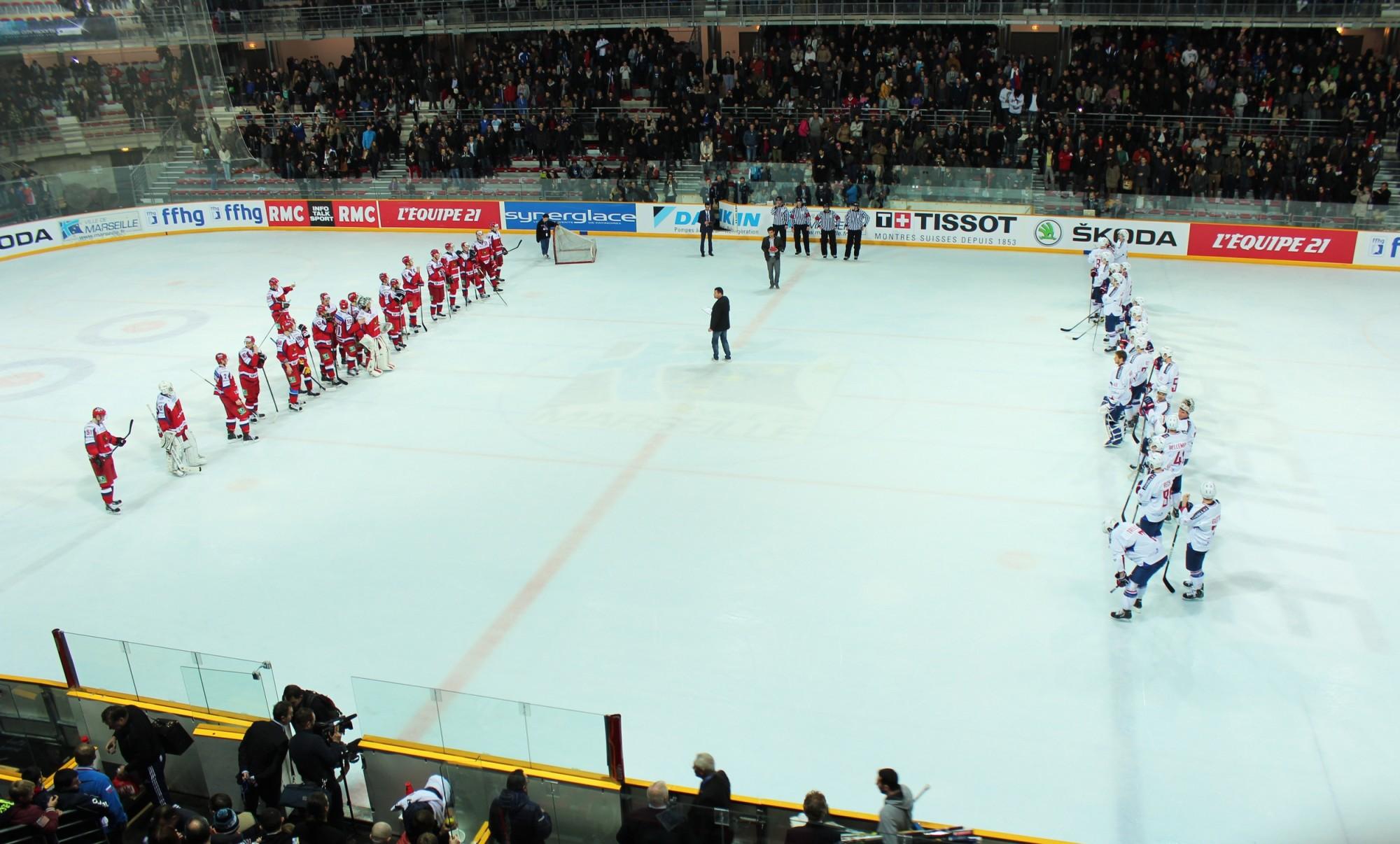 Fin du match France-Russie, le 19 décembre à Marseille. Défaite des Bleus (1-2). Photos ©AL