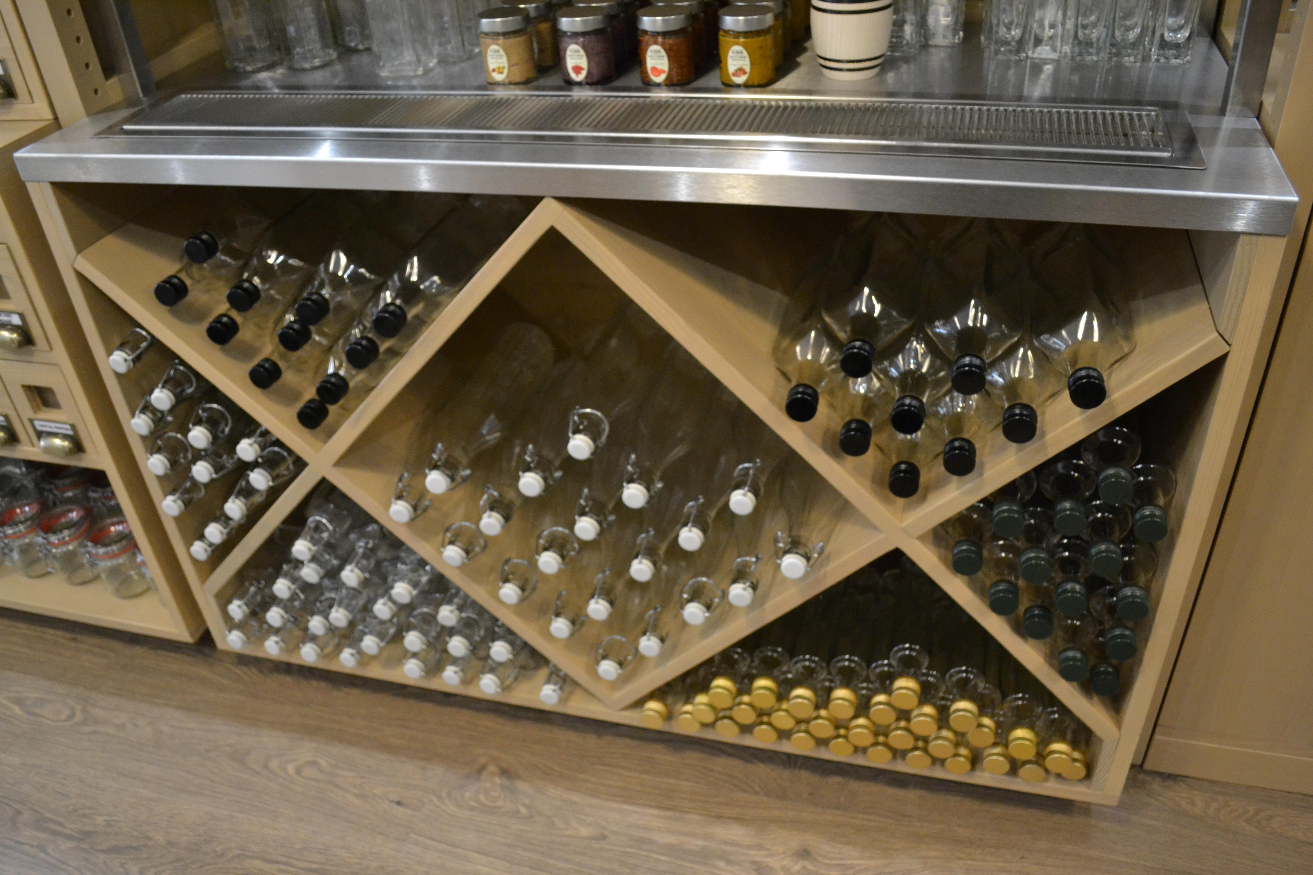 Des bouteilles qui serviront de contenant aux produits liquides