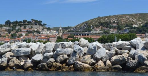 Village de l'Estaque vue depuis la navette maritime Vieux-Port/ l'Estaque ©MD