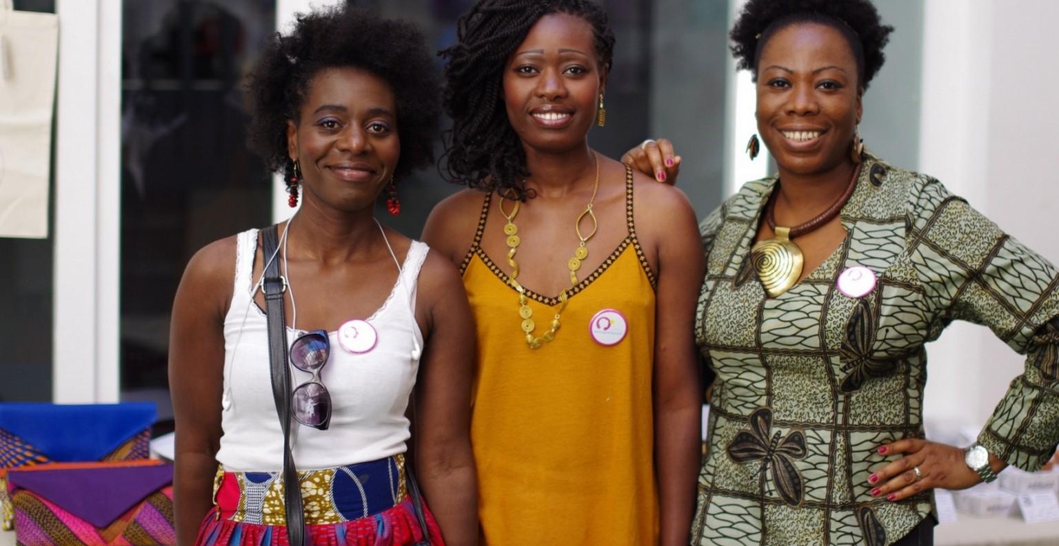 Brendly, Lynda et Assitan, créatrices de l'entreprise Sawa Ethnic. ©DR