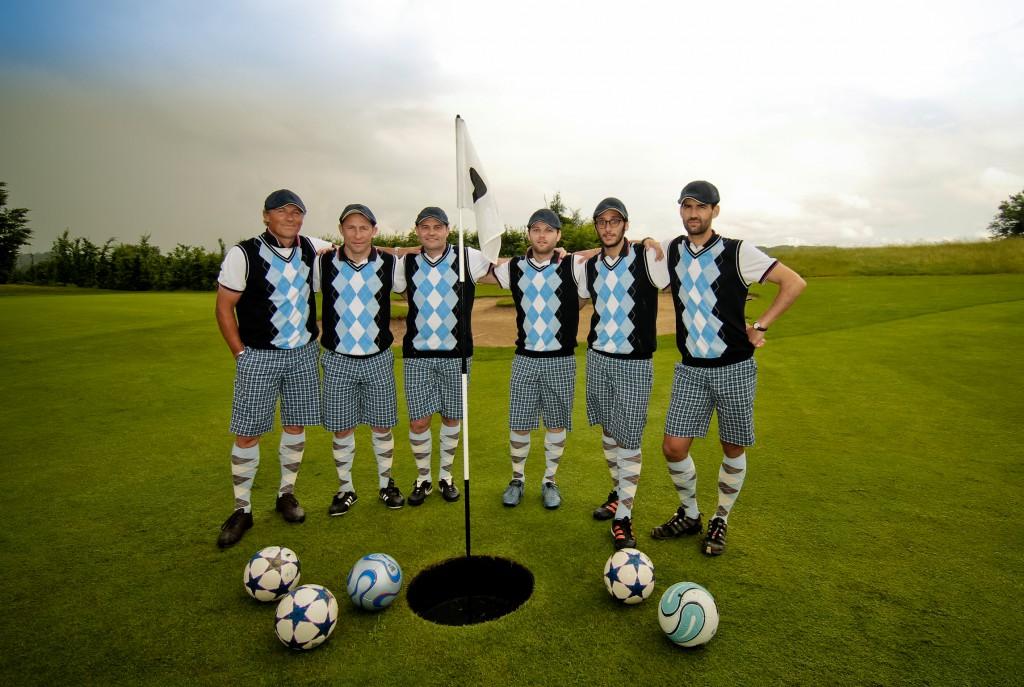 Les participants à la première édition de la Footgolf Cup en 2014 ©DR