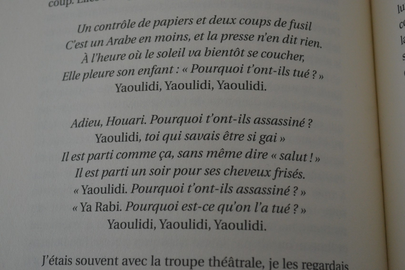 Paroles de la chanson Yaoulidi écrite par Mohamed Bouzidi. ©MD