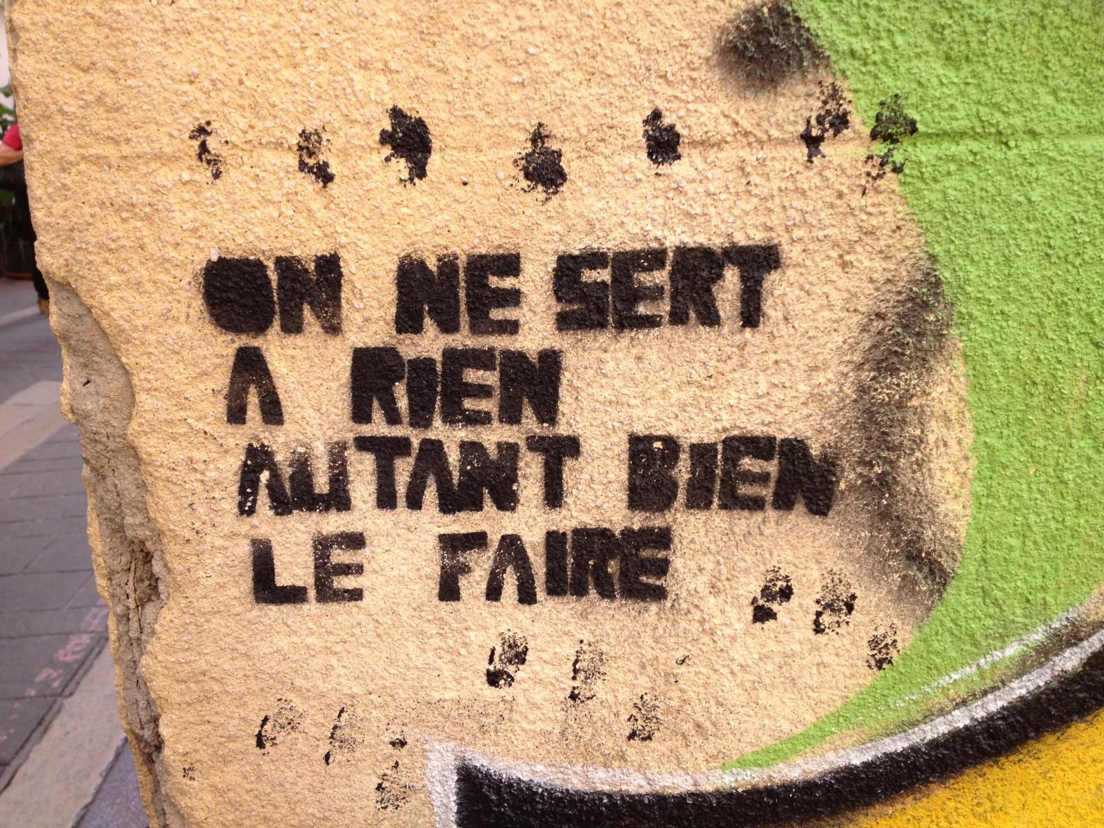 Tag vu au Panier à Marseille. ©MD