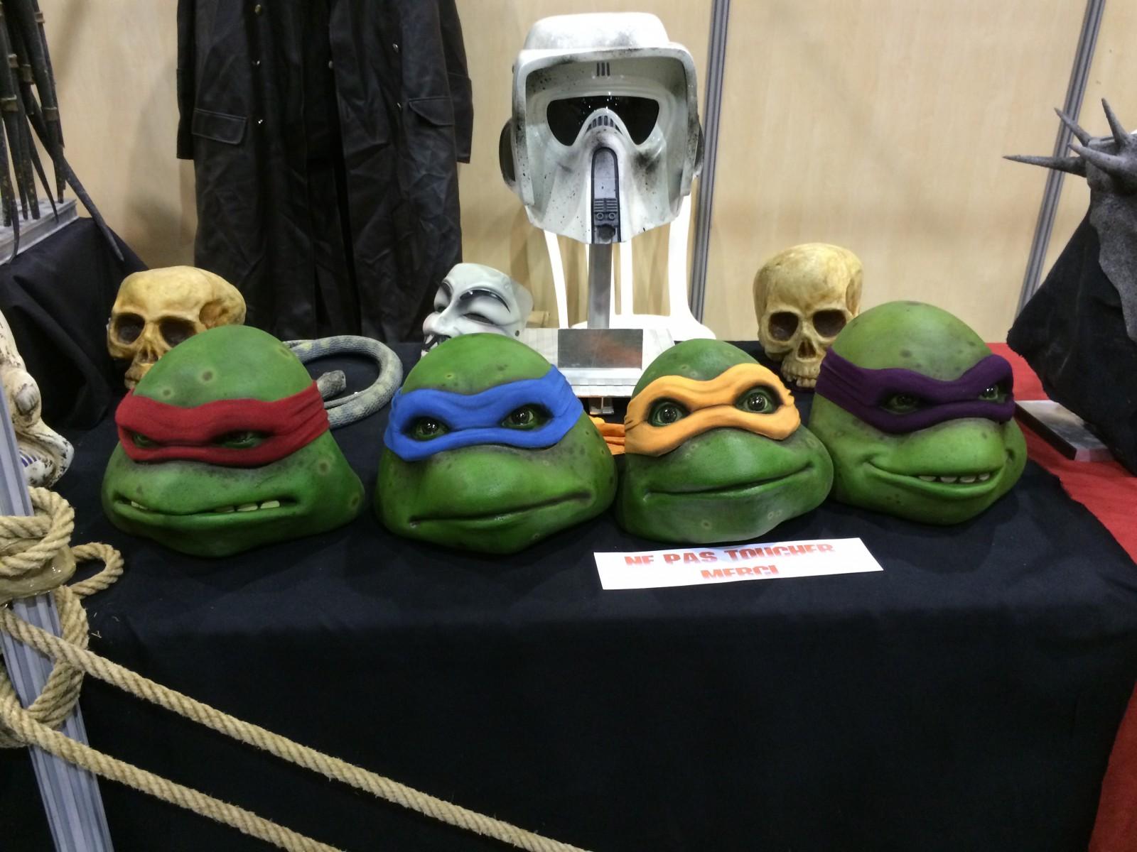 Masques des Tortues Ninja  exposés l'année dernière lors du festival.©MD