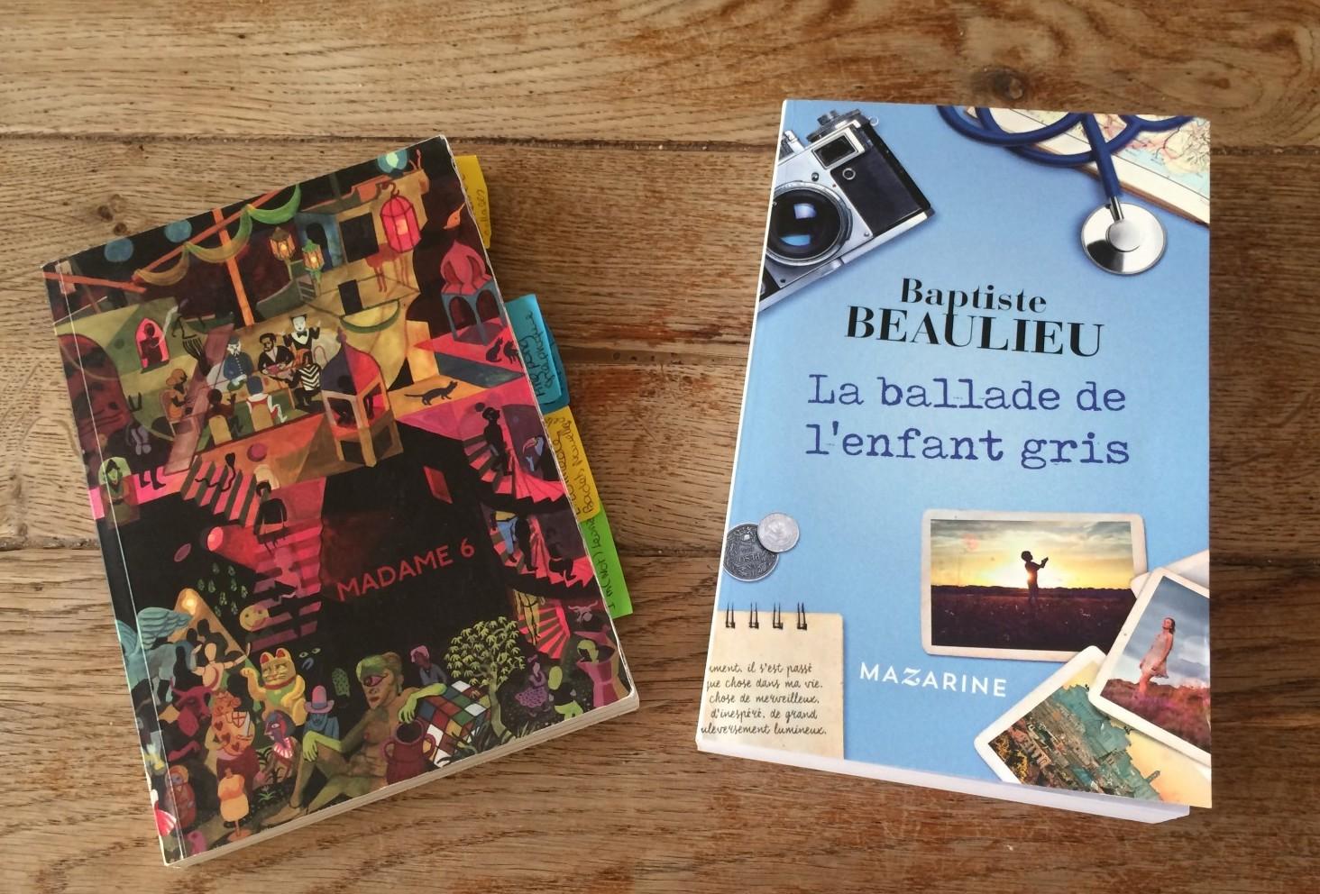 Madame 6 et La ballade de l'enfant gris deux ouvrages à découvrir. ©MD