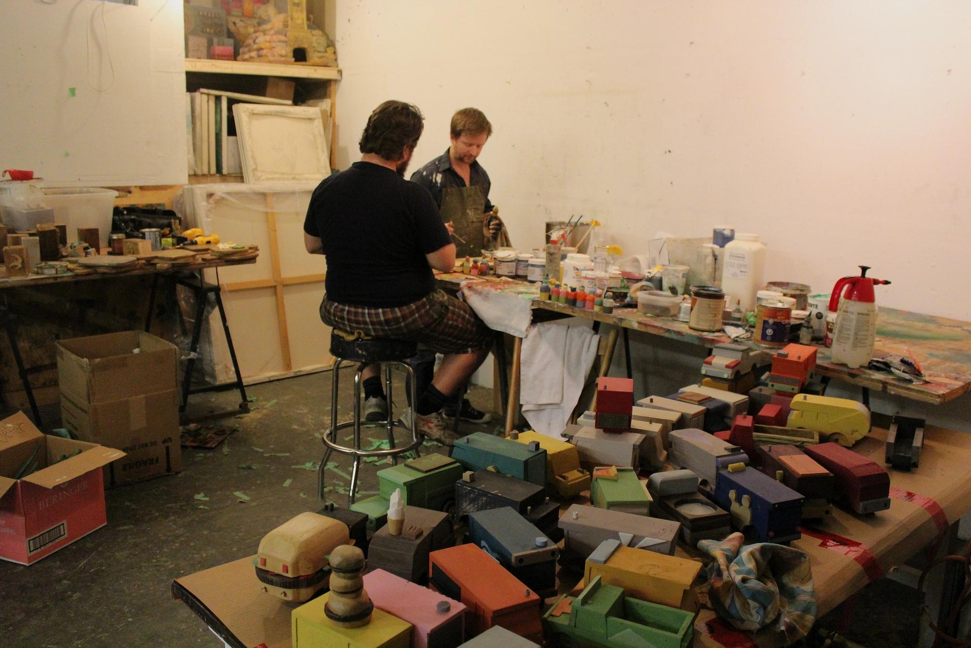 David et Vincent, dans leur atelier à Montréal. ©AL