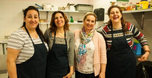 De gauche à droite : Juliette, Abeer, Adelle et Wiam. ©Inès Marandon