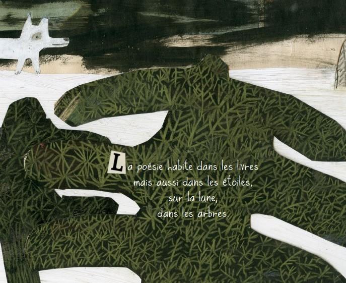Extrait de Poésies pour la vie, écrit par Gilles Tibo et illustré par Manon Gauthier. ©AL
