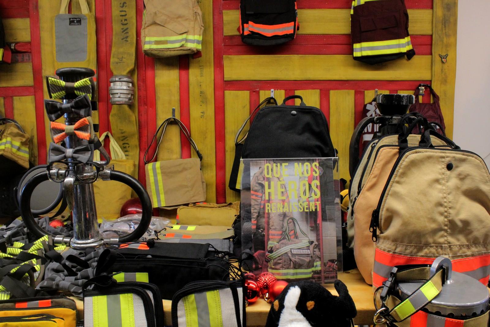 Les produits de Firebags MTL sont en vente en ligne ou directement dans l'atelier à Montréal. ©AL