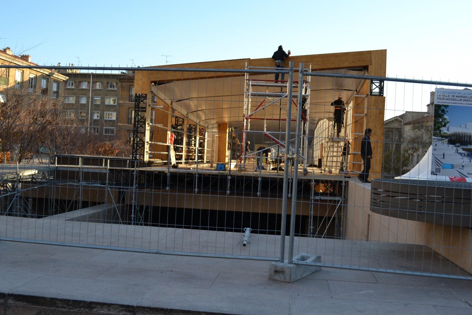 Avancée des travaux du Pavillon M. Le 11 décembre 2012. ©MD