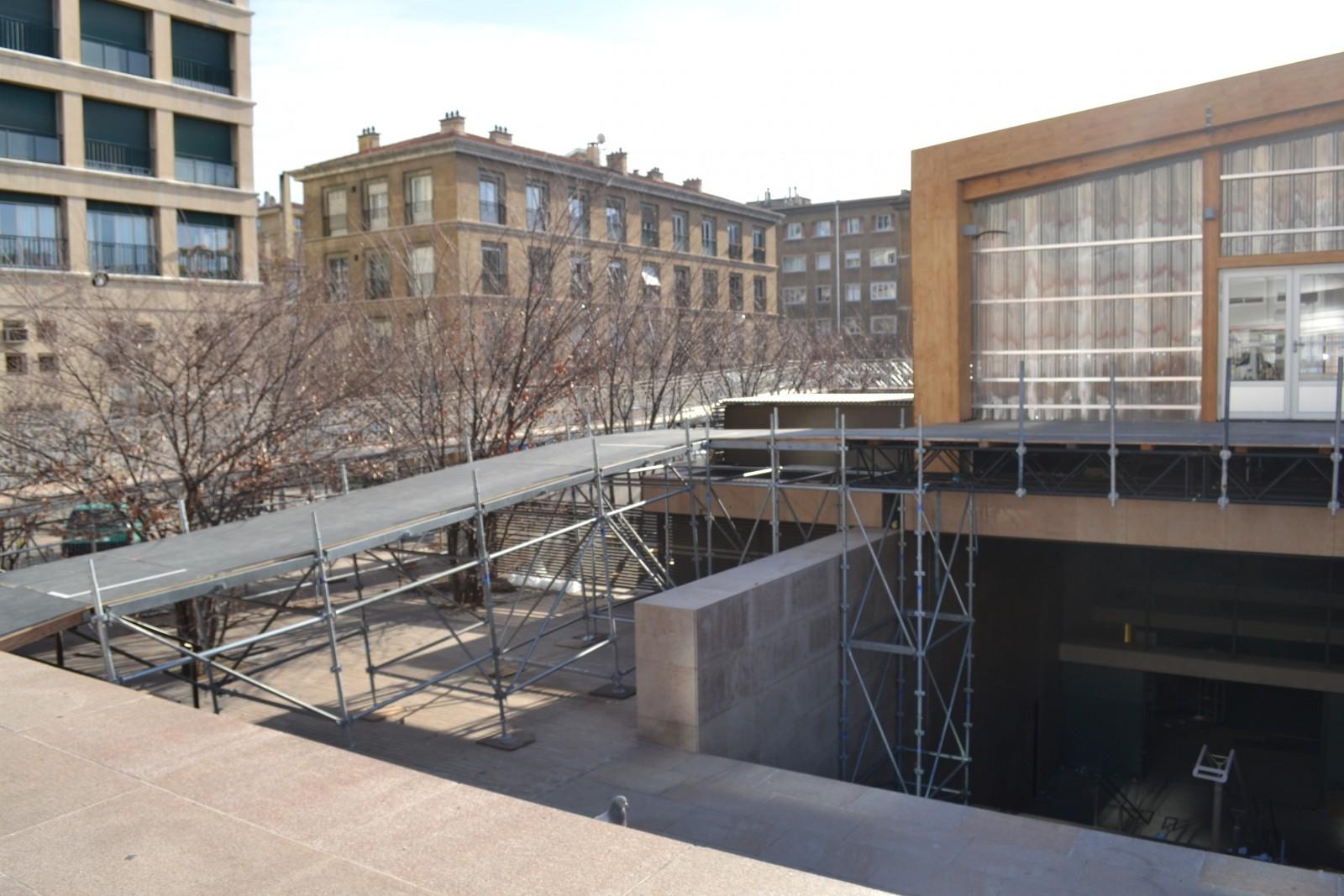 L'entrée principale du Pavillon M.Le 28 décembre 2012. ©MD