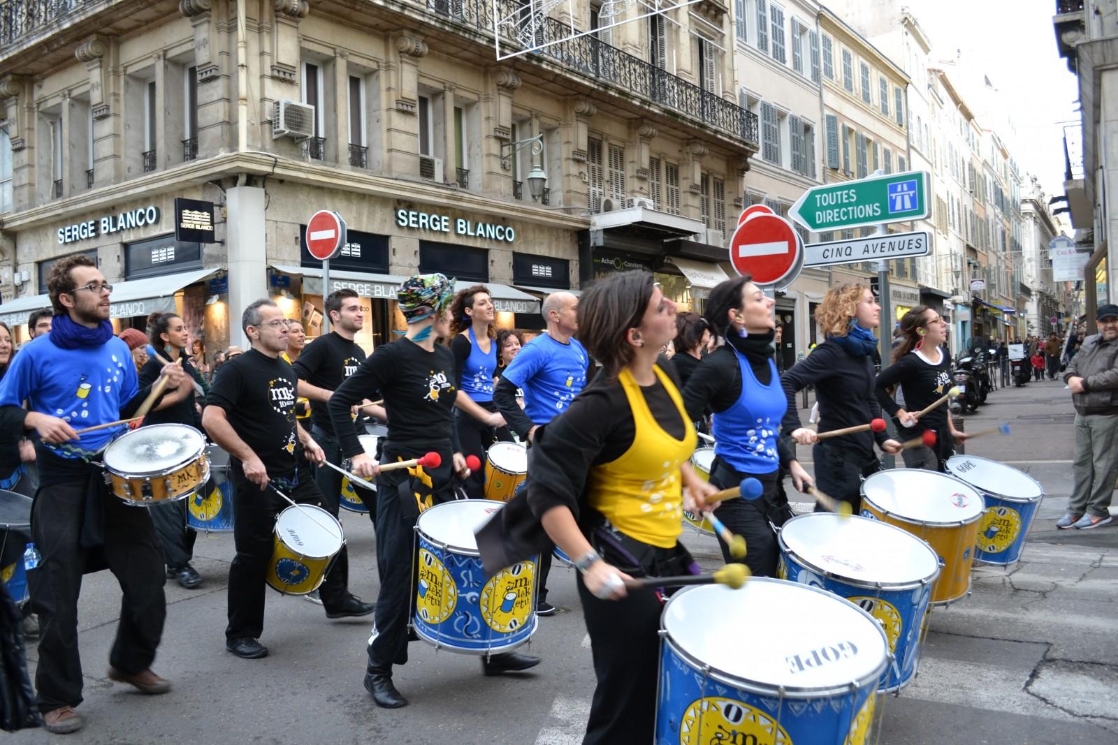 Manifestation pour le mariage pour tous, samedi 19 janvier 2013 à Marseille. ©MD