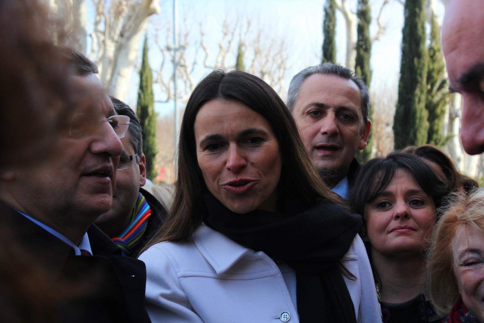 Aurélie Filippetti, Ministre de la Culture, à Aix-en-Provence samedi 12 janvier.Photo ©AL