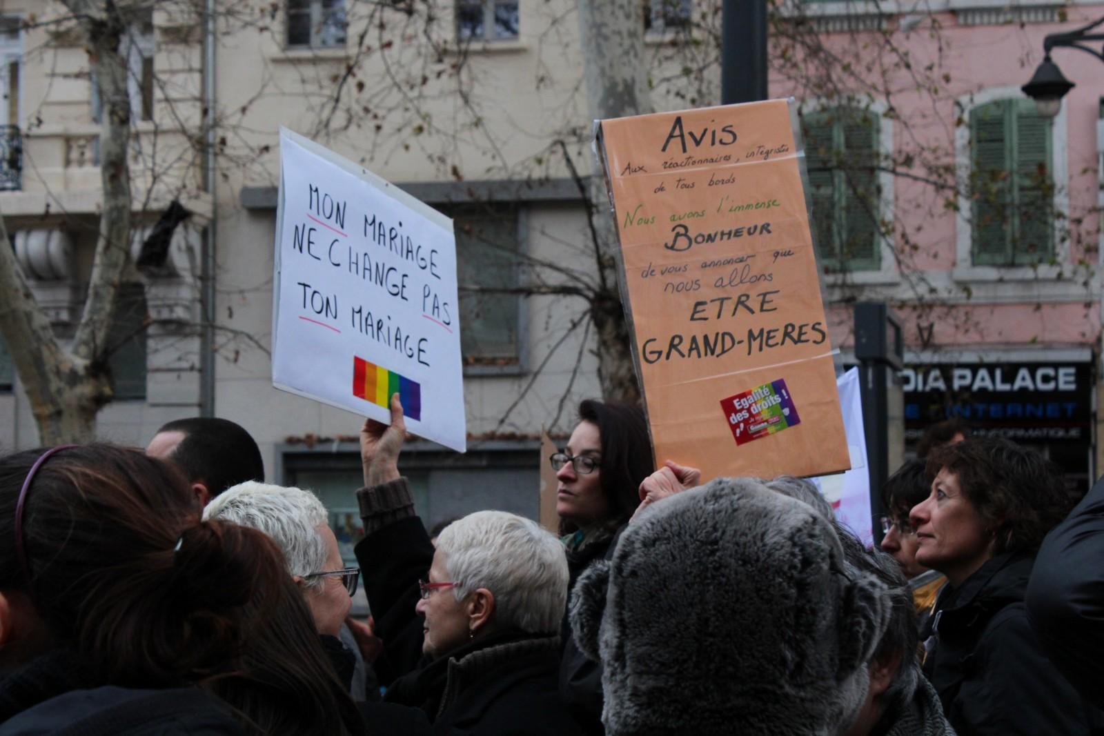 Manifestation pour le mariage pour tous, samedi 19 janvier 2013 à Marseille. ©AL