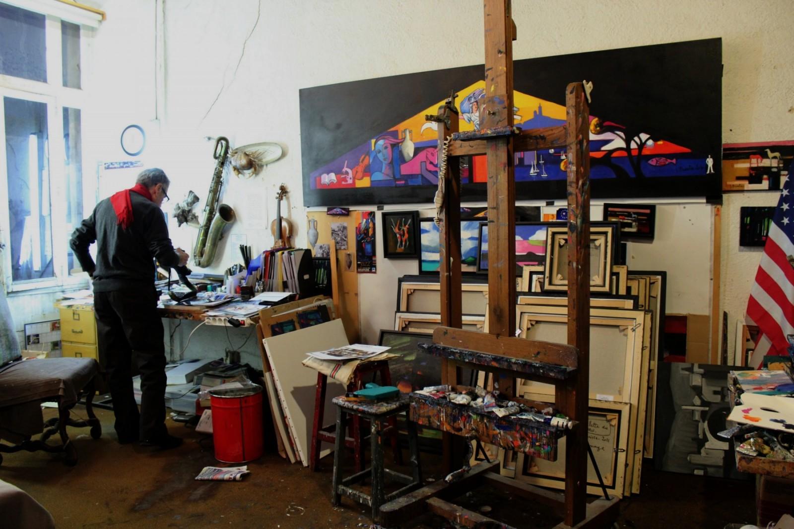 L'abandon du projet du vitrail reste à ce jour l'un des plus grands regrets du peintre marseillais. ©AL