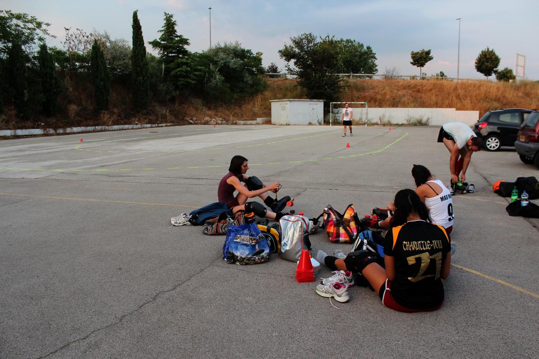 Début d'un entraînement à Aix-en-Provence. ©AL©