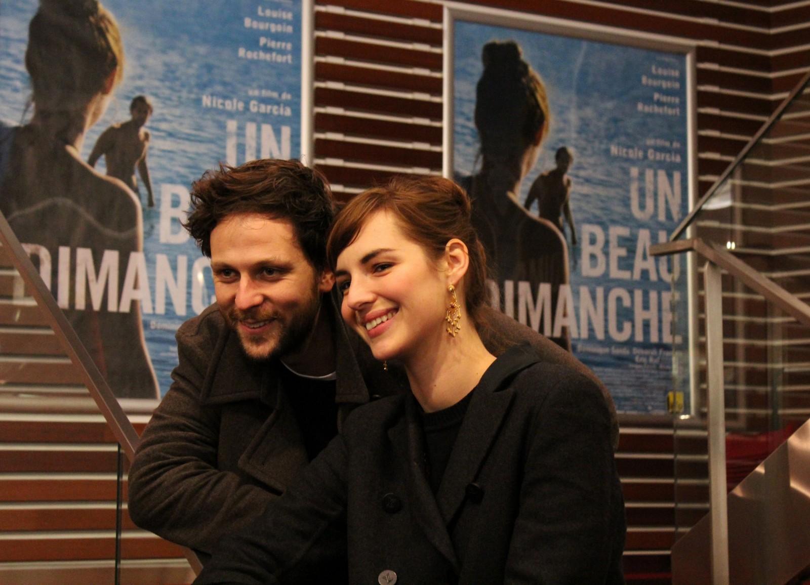 Les acteurs Pierre Rochefort et Louise Bourgoin. ©AL