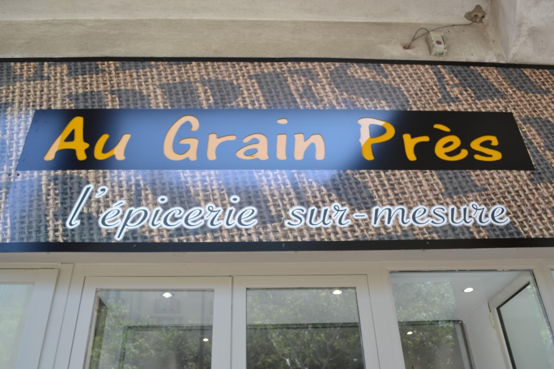 La devanture de l'épicerie Au Grain Près ©MD