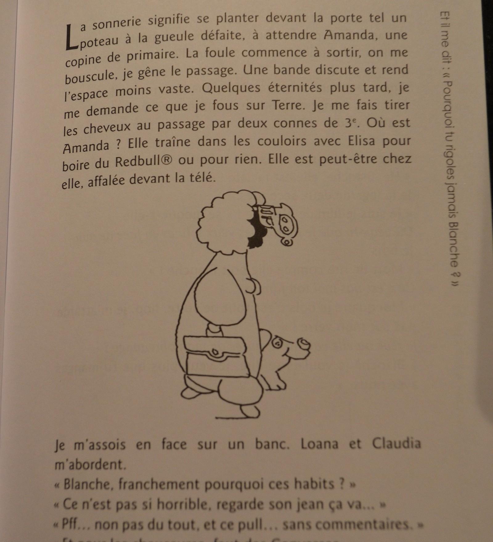 Des illustrations de Sabadel ponctuent le recit de Blanche ©MD