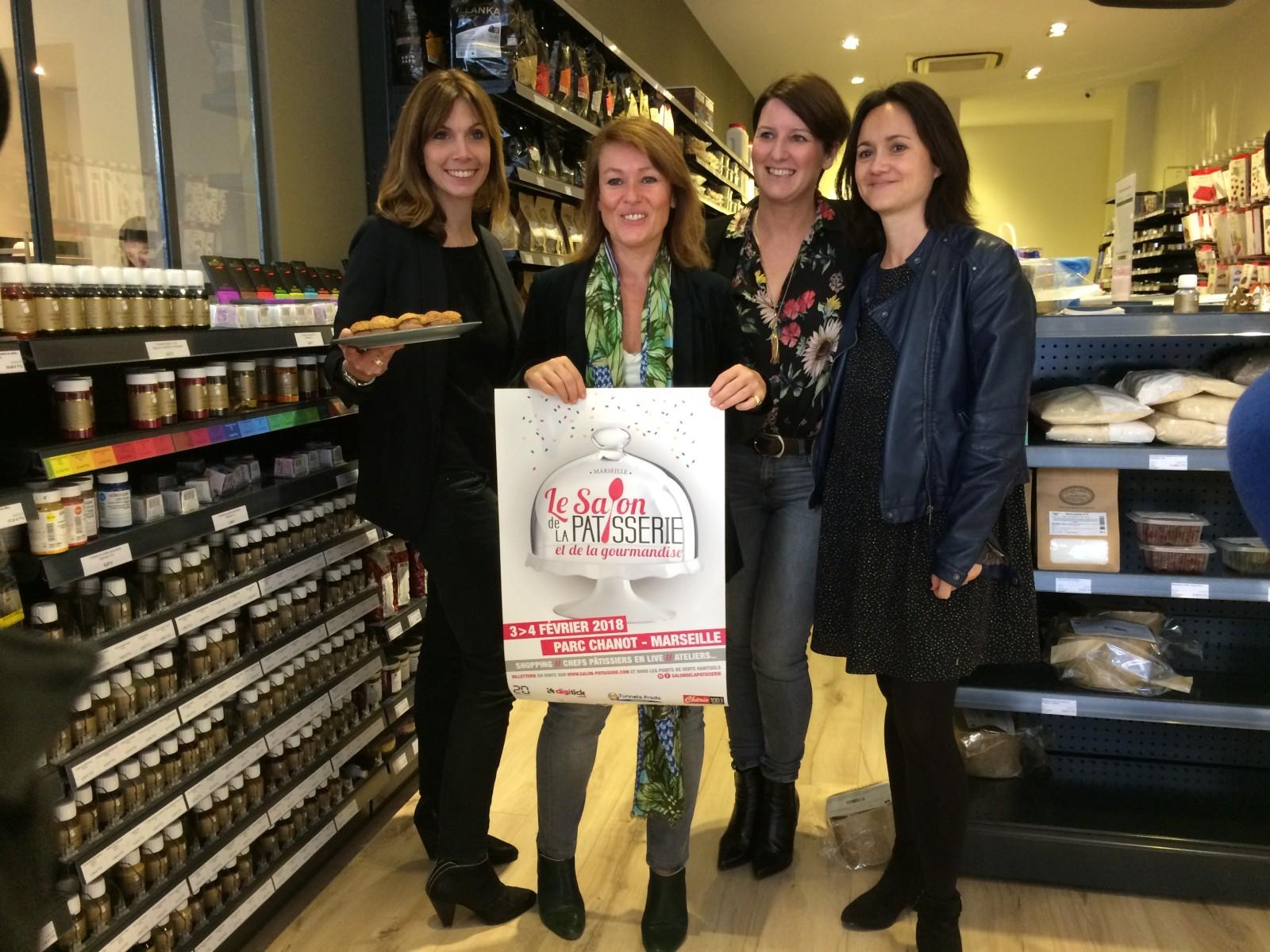 Esther Amiotte, Sophie Chavane , Anne Limbour et Emmanuelle Robert lors de la conférnce de presse. ©MD