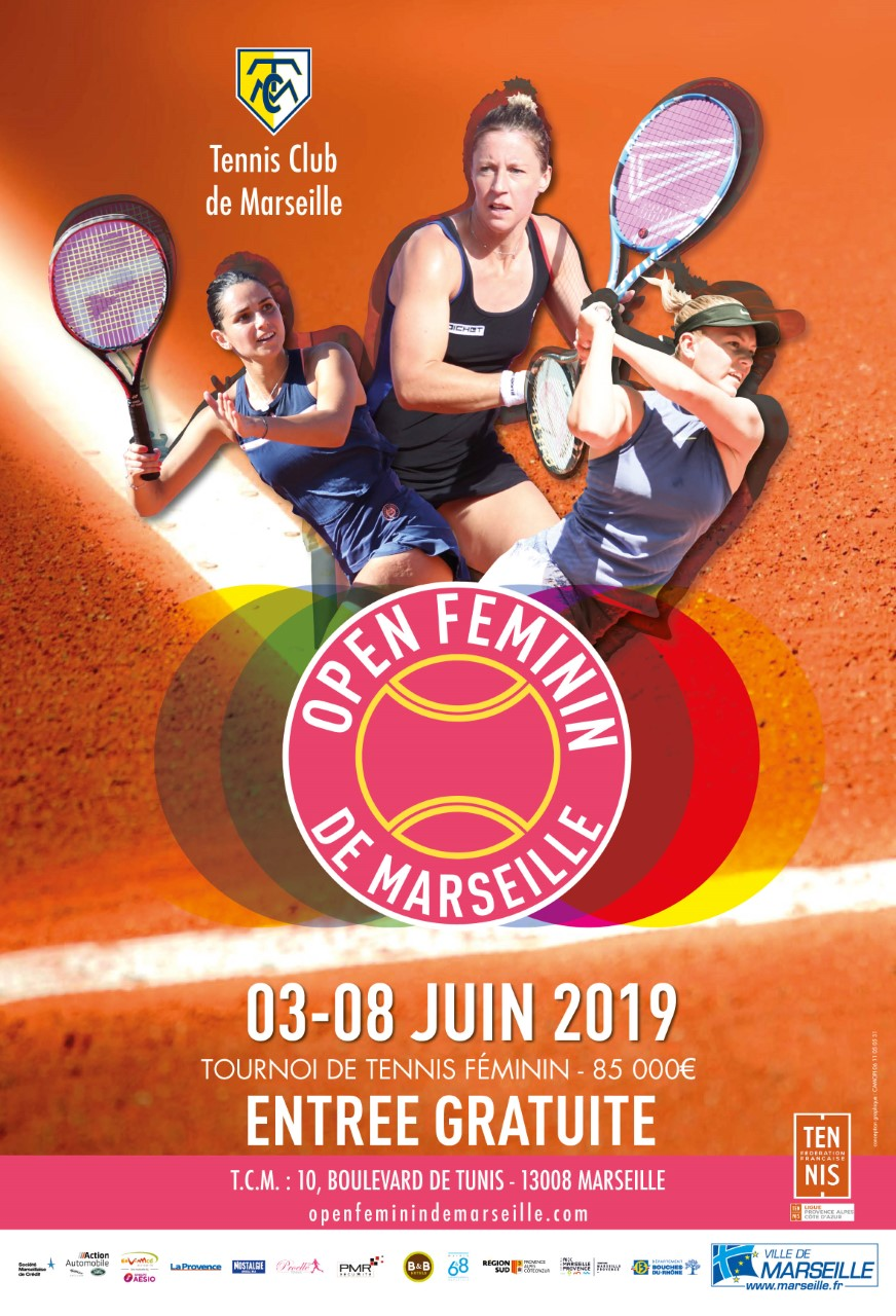 Affiche officielle de l'édition 2019 de l'Open de Marseille. ©DR