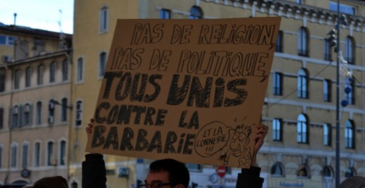 Rassemblement à Marseille, le 10 janvier 2015. ©MD
