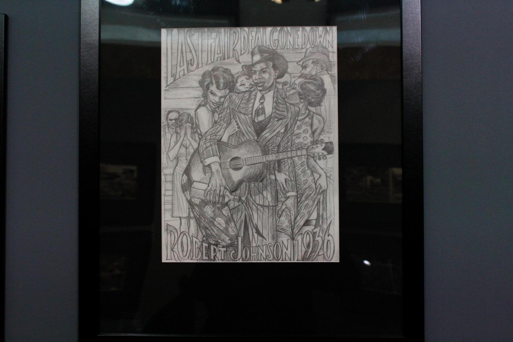 Pour dessiner Robert Johnson, Mezzo s'est servi des deux seules photos de face et des témoignages de ses proches. ©AL