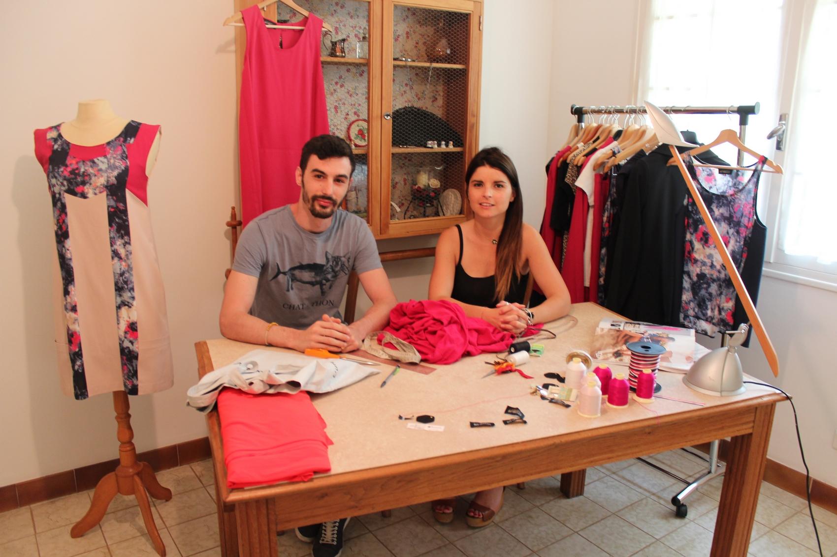 Théo et Nora, deux des trois fondateurs de la marque. ©AL