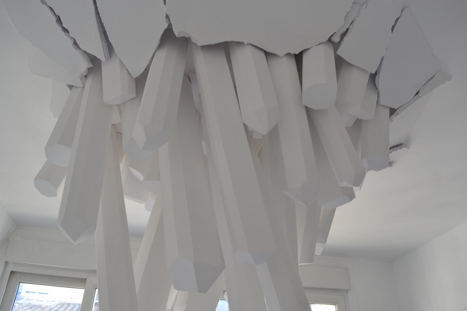 Installation de l'artiste Stéphane Parain. ©MD