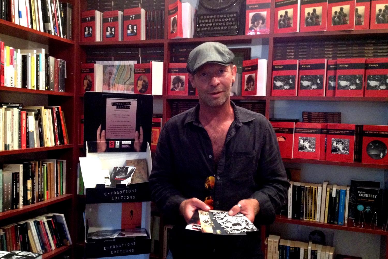 Franck-Olivier Laferrère lors de sa présentation à la librairie L'atinoir à Marseille. ©MD