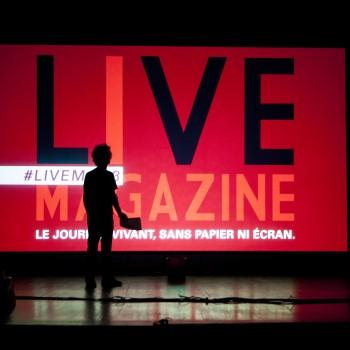 Le Live Magazine est un journal vivant. ©Alain Tendero