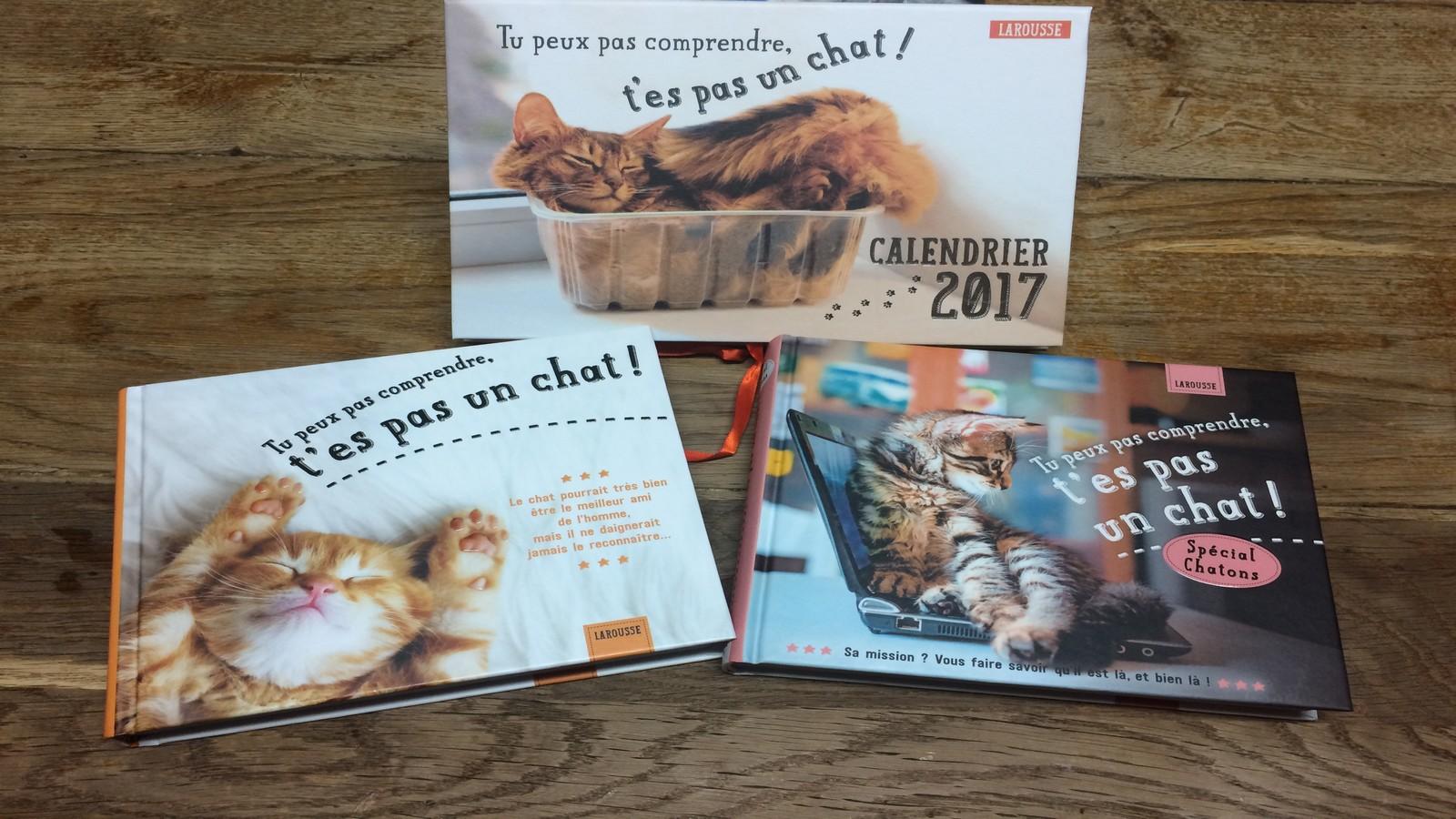 Les livres et le calendrier parus aux Editions Larousse. ©MD
