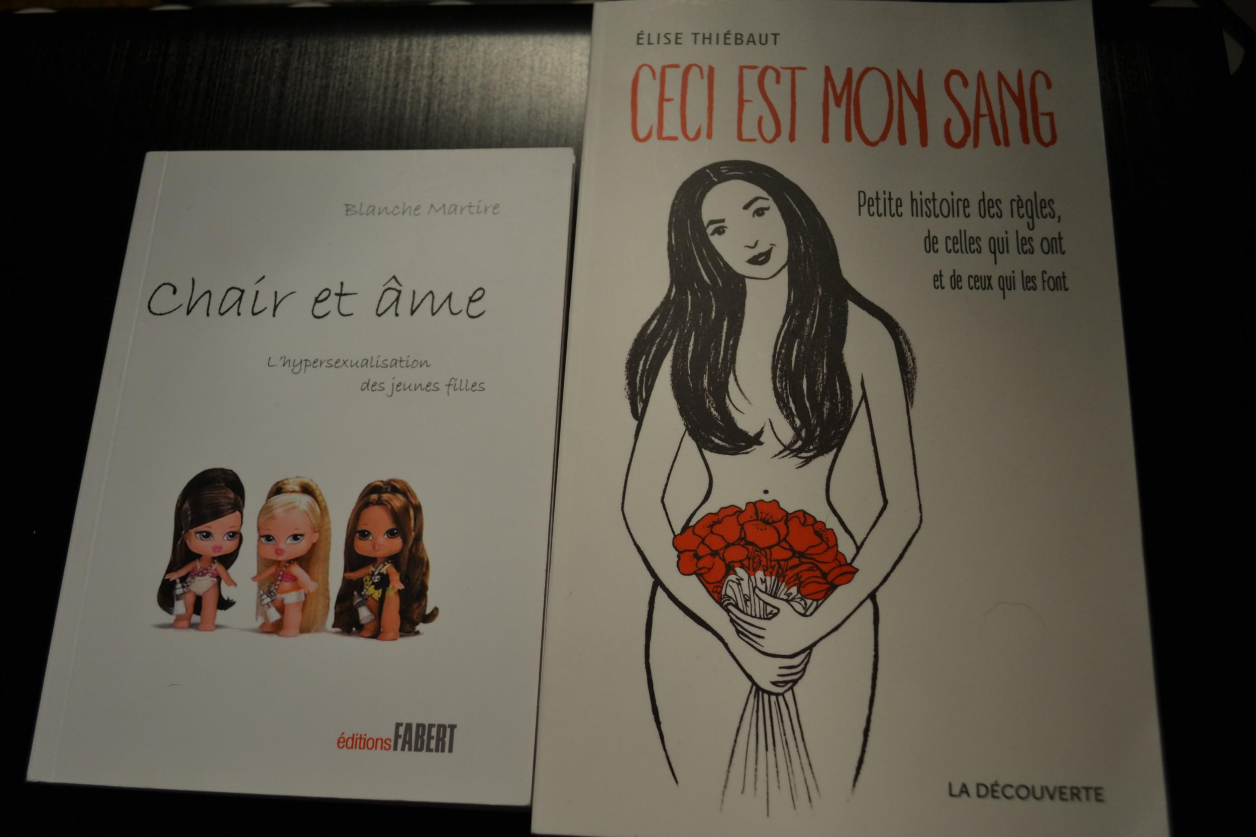 Deux livres qui brisent les tabous de sexualité adolescente et des règles. ©MD