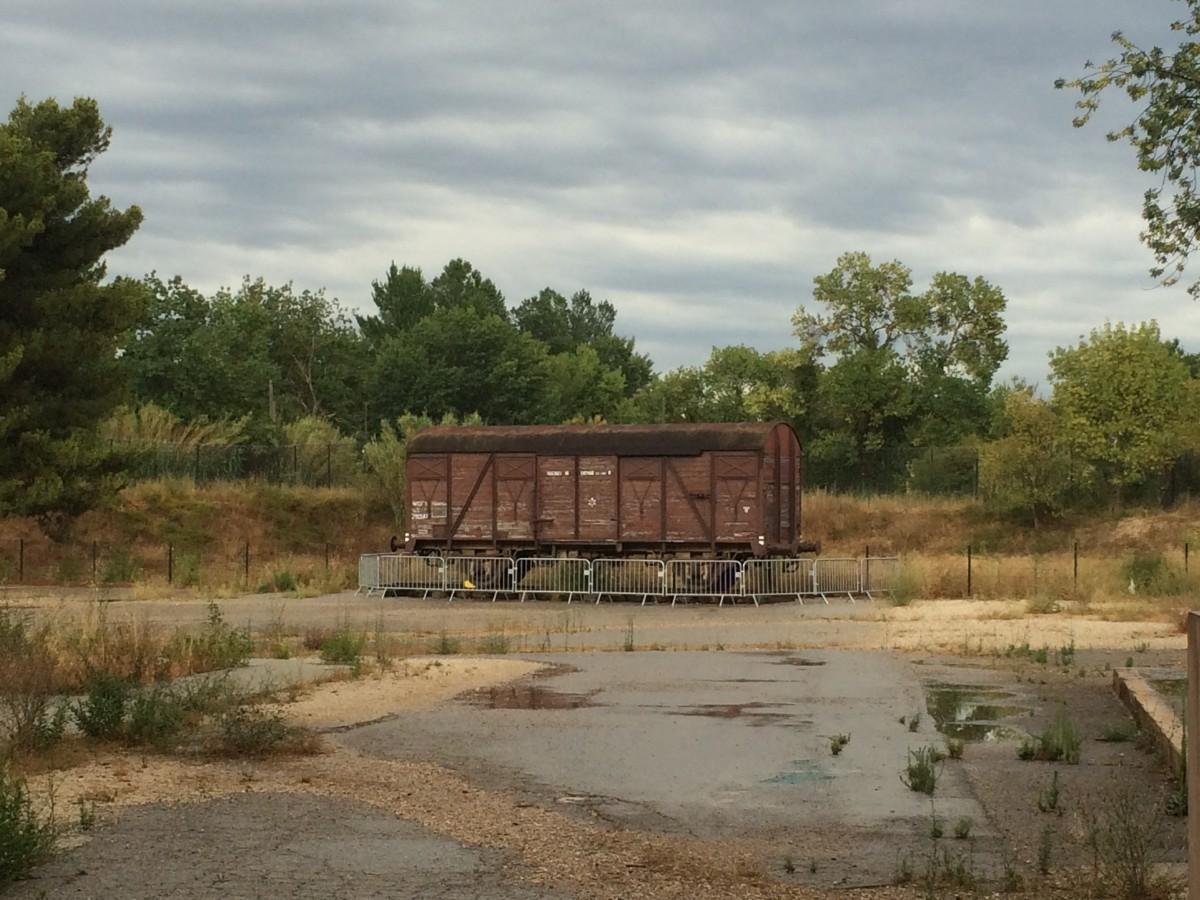 Le wagon du Souvenir au Camp des Milles d'Aix-en-Provence. ©MD