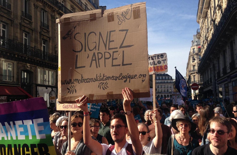 Marche pour le Climat à Paris, le 13 octobre 2018. ©CliMates