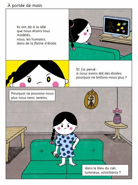 Ma bonne étoile est une BD en vers, écrite par Cecilia Pisos et illustrée par Gastón Caba. ©DR