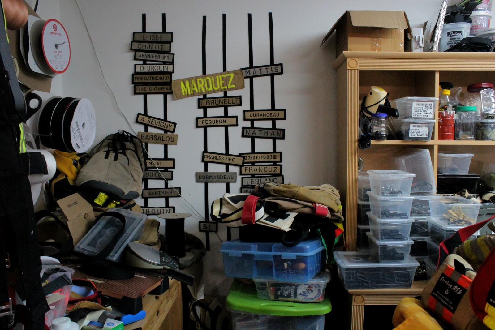 Derrière chaque sac il y a une histoire et un pompier qui est allé dans le feu.©AL